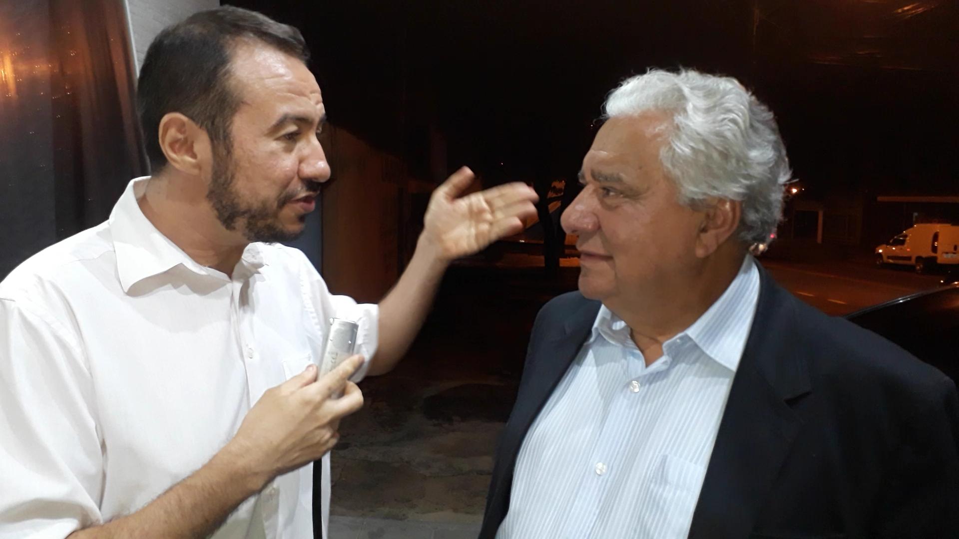 No último compromisso do dia, Vilmar concedeu entrevista ao jornalista Euclides Oliveira, editor-geral do Portal Excelência Notícias