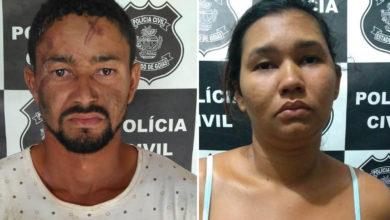 Adriano entrou em luta corporal com agentes, mas foi detido, Luciana foi defender o irmão e acabou presa (Foto: Polícia Civil)