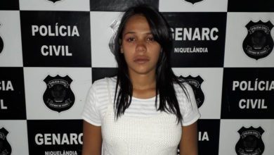 Com 19 anos e 17 semanas de gestação, mulher é presa em flagrante (Foto: Polícia Civil)