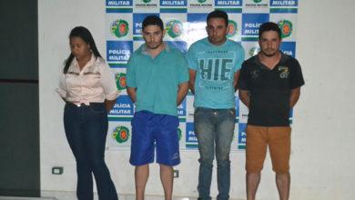 Após várias diligências, polícia prendeu quatro pessoas (Foto: Polícia Militar)